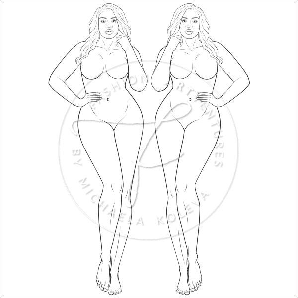 alluring curves fashion figure template