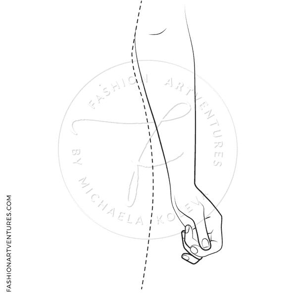 Female Catwalk Plus Size Model - Croqui