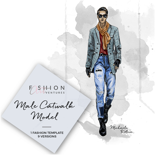Male Catwalk Model Cover
