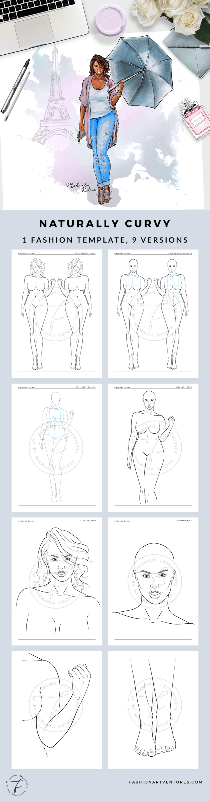 Naturally Curvy Fashion Template Cover