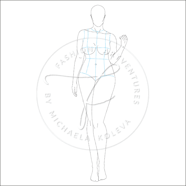 Naturally Curvy Fashion Template Product Image Dashed