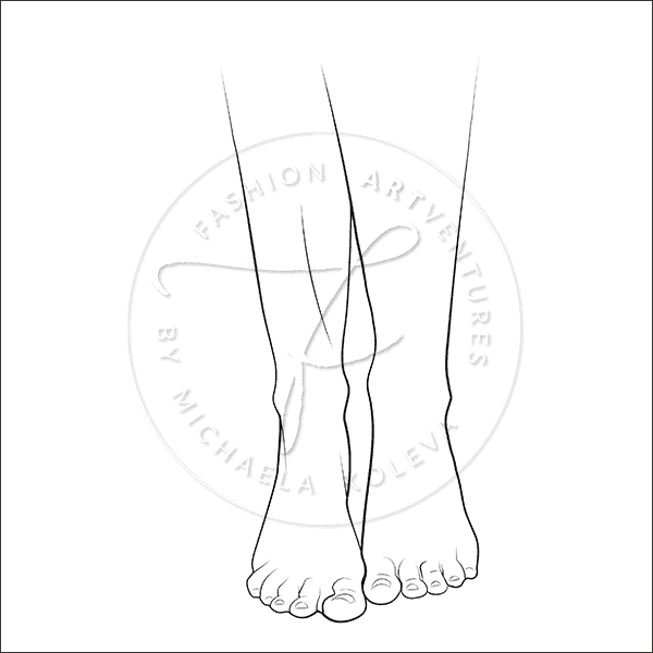 Naturally Curvy Fashion Template Product Image Feet