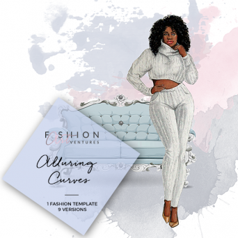 ALLURING CURVES FASHION FIGURE TEMPLATE Cover Graphic