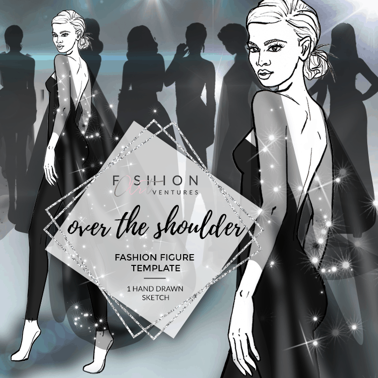 The Over The Shoulder Fashion Template Cover | Red Carpet