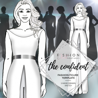 The Confident Fashion Template Cover | Red Carpet