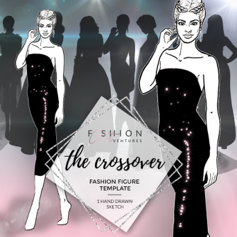 The Crossover Fashion Template Cover | Red Carpet