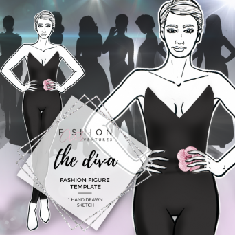 The Diva Fashion Template Cover | Red Carpet