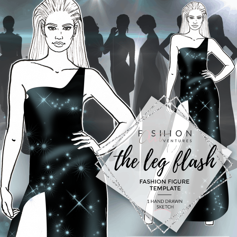 The Leg Flash Fashion Template Cover | Red Carpet