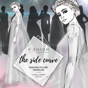 The Side Curve Fashion Template Cover | Red Carpet
