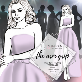 The Arm Grip Fashion Template Cover | Red Carpet