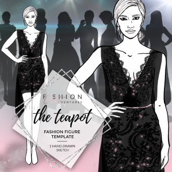 The Teapot Fashion Template Cover | Red Carpet