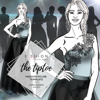 The Tiptoe Fashion Template Cover | Red Carpet